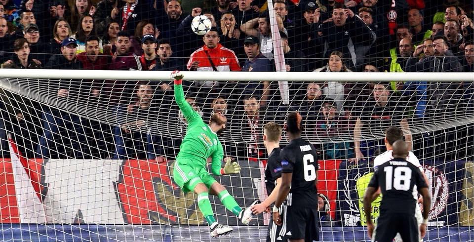 David de Gea je skozi celotno tekmo reševal Manchester United. Foto: Manchster United