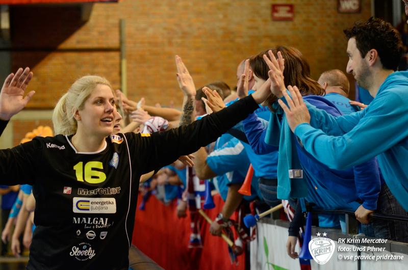 Miča Marnček bo jutri zagotovo zelo pomemben člen v ekipi Krimovk. Foto: RK Krim Mercator/Uroš Pihner