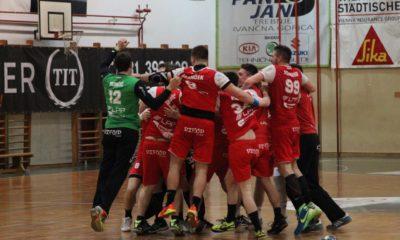 Ljubljančani so prvo tekmo v Trebnjem slavili za vsega en zadetek. Foto: RK Trimo Trebnje