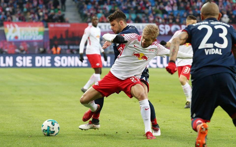 Kampl je z Leipzigom presenetil Bayern. Foto: RB Leipzig