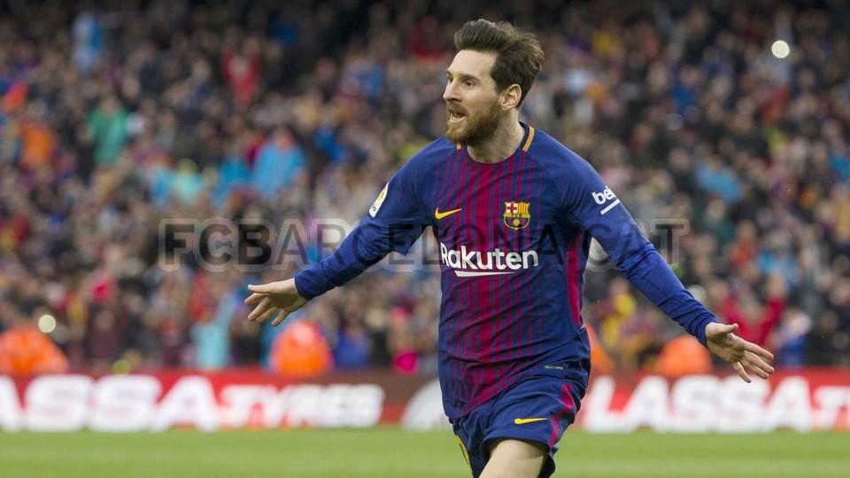 Lionel Messi je z izjemni zadetkom matiral Jana Oblaka. Foto: FC Barcelona