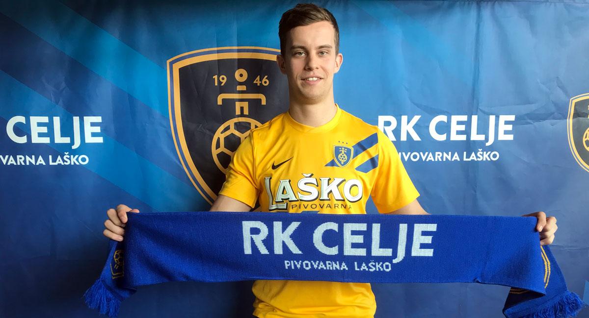Gregor Okleščen bo od sezone 2019/2020 branil barve Celja Pivovarne Laško. Foto: RK Celje Pivovarna Laško