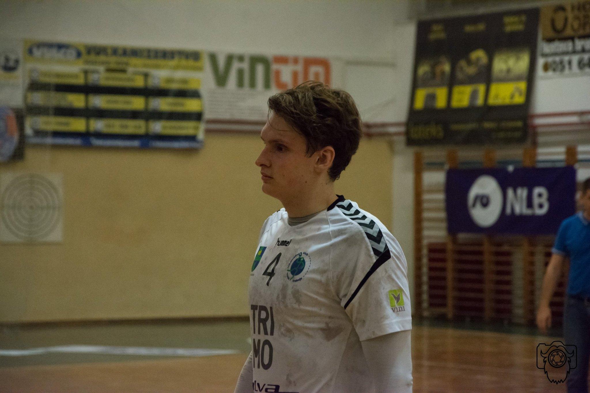 Tobias Cvetko je zaradi poškodbe rame že končal sezono. Foto: RK Trimo Trebnje