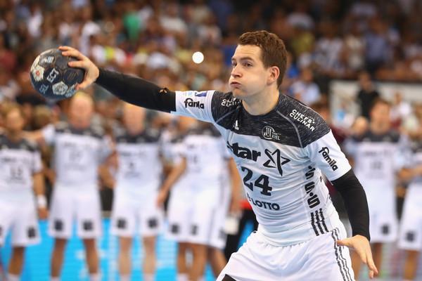 Miha Zarabec je na prvi tekmi dosegel 4 zadetke. Foto: THW Kiel