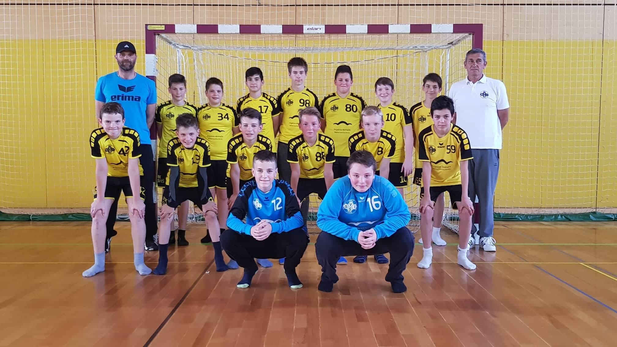 Mladi rokometaši SVIŠ-a branijo naslov državnih prvakov pri letniku 2005 in mlajši. Foto: Dominik Pekeč/ŠD Šport