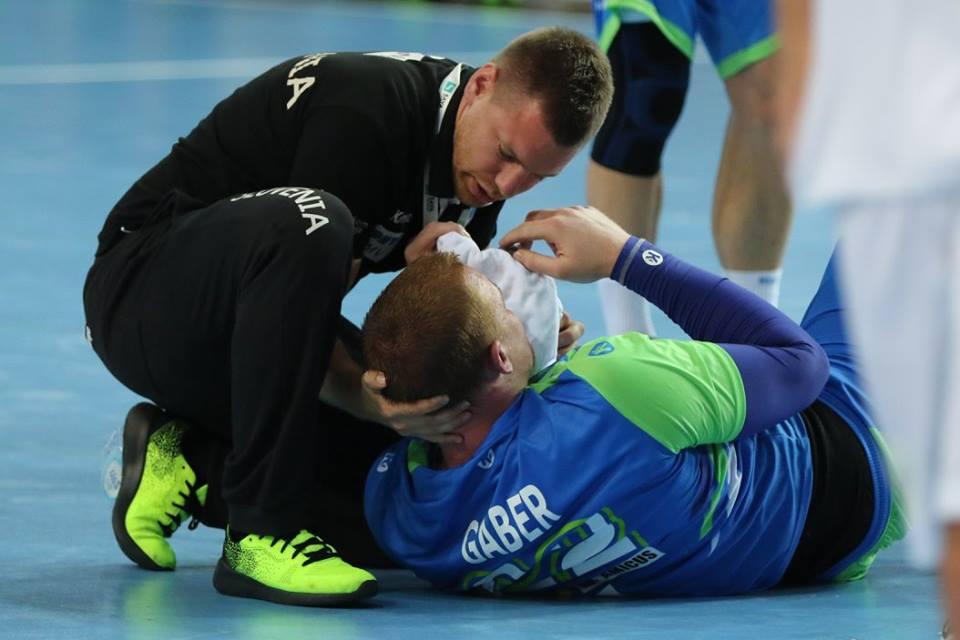 Mateja Gabra v Veszpremu ne bomo videli zaradi poškodbe očesne veznice. Foto: Igor Martinšek